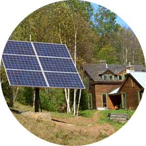 Off grid solar powered cabin