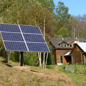 Off grid solar powered cabin